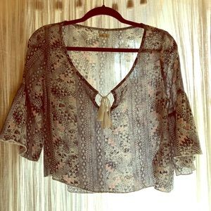 Hollister Aztec Crop Top Blouse
